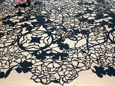 White Felt Rug I D Get This Dirty Laser Cut Fabric Pinterest Felting Cutting And