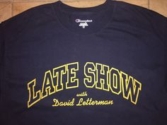 A personal favorite from my Etsy shop https://www.etsy.com/listing/516181943/80s-david-letterman-show-tshirt-large