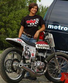 Flat Track Motorcycle, Flat Track Racing, Tracker Motorcycle, Bultaco Motorcycles, Vintage Motorcycles, Motorbikes, Classic Motors, Classic Bikes, Lady Biker