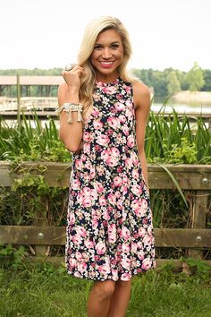 The Lola Tank Dress in English Garden Rose