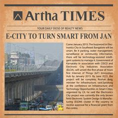 #RealEstate Update: Electronic City to become a smart city by January 2015.
