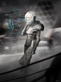 Do you copy? by Florent Llamas Character Concept, Character Design, Character Inspiration, Dreamland, Arte Sci Fi, Cyberpunk Girl, Sci Fi Armor, Tecno, Robot Concept Art