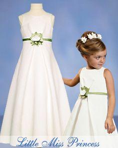 Isabella Empire Waist Ivory Flower Girl Dress
