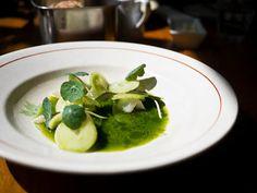 Restaurant Bror, Copenhagen (Pike, Cucumber in a light pine broth)