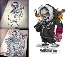 Trespasser BO55 Character Illustration by Clogtwo