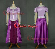 Disney Cosplay Tangled Rapunzel cosplay princess costume Rapunzel costume (Type C)