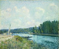 The Banks Of The Oise by Alfred Sisley