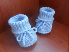 """Для новорожденных, ручной работы. Ярмарка Мастеров - ручная работа. Купить Пинетки для мальчика """" топотушечки"""". Handmade. Голубой"""