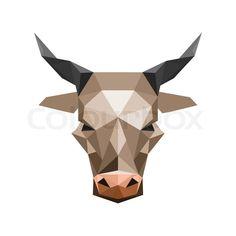 Stock-Vektor von 'Origami-Stier'