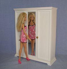 Wardrobe for 12 inch doll /1/6 scale Barbie by FurnitureForDolls