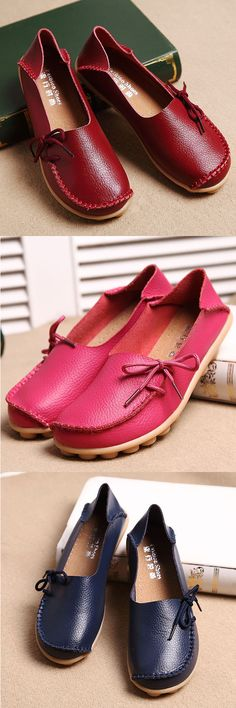 US$20.56 + Free shipping. US Size 5-13, Lace-up flat loafers, casual leather flats, women leather flat shoes. Color: Black, Light Blue, Dark Blue, Orange, Rose Red, Wine Red, Beige, Khaki.Upper Material: Cow Split Leather.