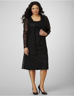 Gorgeous & classy Mother of the bride or wedding guest look from #Catherines available at #Sonsi :) #plussize