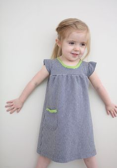 The Playdate dress: a tutorial - I use spray starch to get the knit to sit still, it works wonders!