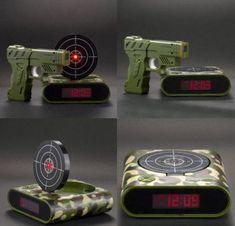 Awesome gun shoot alarm clock - http://jokideo.com/