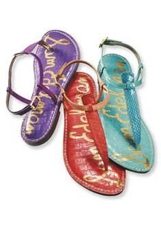 Sam Edelman Sandals. Love all the colors!