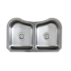 KOHLER Staccato Undermount Stainless Steel 31.625x19.5625x8 0 Hole Double  Bowl Kitchen Sink