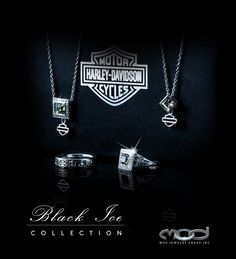 MOD Jewelry Black Ice Collection. Find them at at your local Harley-Davidson Dealership.