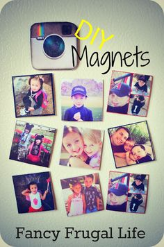 Fancy Frugal Life: DIY Instagram Magnets - My project for the week...