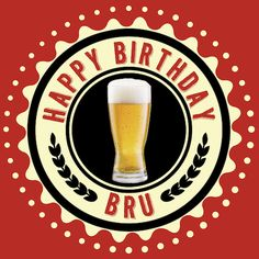 Happy Birthday Bru greeting card for Kinky Rhino Greeting Cards in South Africa #greetingcard #southafricancard #southafrica #card #birthday #beer #bru #wheat #south #africa #hipster