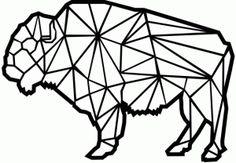 Silhouette Design Store - Free Design of the Week #85633: geometric buffalo