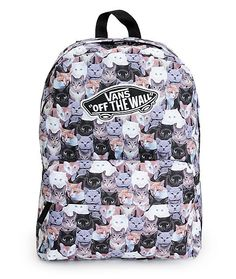 Support a great cause with this ASPCA colab backpack made with a cat print canvas exterior and ample storage space for all your stuff. Description from zumiez.com. I searched for this on bing.com/images
