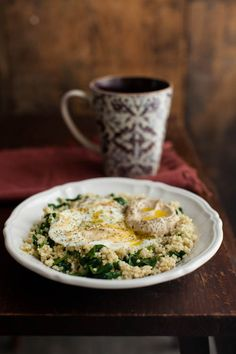 Naturally Ella | Garlicky Spinach, Millet, and Eggs