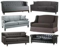 grey couches for my living room. Find Furniture, Home Decor Furniture, Home Furnishings, Cool Couches, Gray Couches, Unique Sofas, Tufted Sofa, Living Room Sofa, Living Rooms