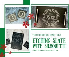 How to Etch Slate with Silhouette