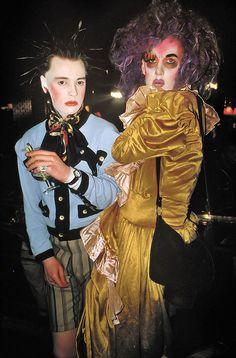 Trojan and Mark at Taboo by Derek Ridgers --- Colour photograph 1986