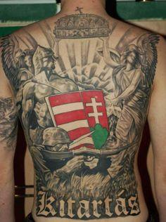 proud hungarian New Tattoos, Cool Tattoos, Tatoos, Awesome Tattoos, Hungarian Tattoo, Coat Of Arms, History, Mens Tops, Thor