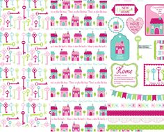 Maria Taylor Pretty Home Papers & Sentiments - Free Card Making Downloads