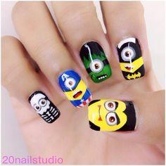 halloween minions by 20nailstudio #nail #nails #nailart