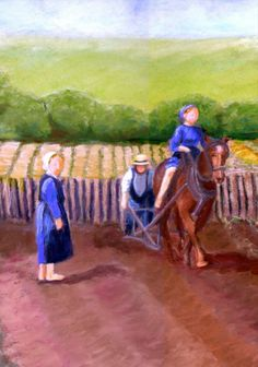 """Gloria Adrian, 'Plowing"""" from """"Becoming Amish"""" series"""