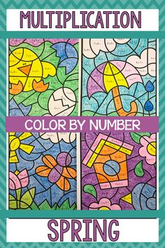 Fun Spring math activities. Your students will love the multiplication color by code pictures. The printable worksheets are great for morning work, math centers, stations, rotations, or homework for 3rd graders or 4th graders. Big kids need some fun too. Plenty of practice for third or fourth graders. Great for a substitute teachers too!