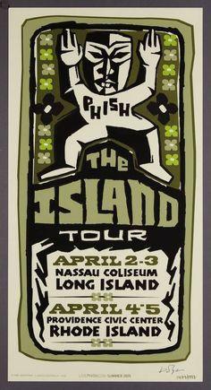 Phish Posters, Concert Posters, Nassau Coliseum, Island Tour, Tours, Blog, Phan, Music, Indigo
