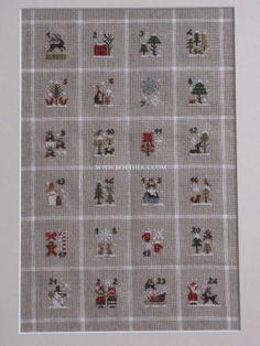 xxx 1 - 24 xxx - Fairytale Primitive Advent Calendar Variation by Botthéka - Original pattern: The Little Stitcher