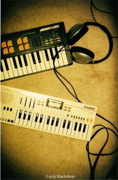 Headphones & Keyboards LOMOGRAPHY 8x10 Photograph by PictureBook, $30.00