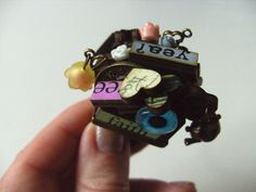 The MOST WhimsicaL Ring wood wooden letters Alice by NewellsJewels