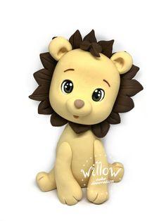 Little lion, fondant cake decoration Cake Decorating With Fondant, Fondant Decorations, Lion, Leo, Lions