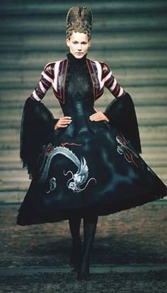 Alexander McQueen for Givenchy Autumn/Winter 1997 #gothic princess