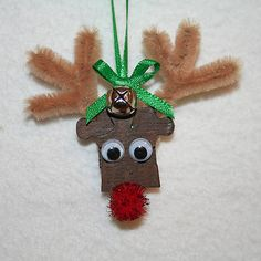Puzzle Piece Reindeer Ornament Craft