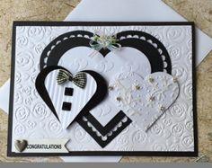 Handgemachte Hochzeit Karte Mit Liebe gemacht Leere einfügen Weißen Umschlag enthalten Kommt in einer Plastikhülle Karte ist zwischen zwei Kartons ausgeliefert und in einem gepolsterten Postumschlag gebucht.