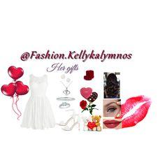 Fashion set Her Gifts created via Three Stone Engagement Rings, Heart Pendant Necklace, Dress Styles, Silver Diamonds, Art Decor, Fashion Dresses, Fashion Looks, Gifts, Fashion Show Dresses