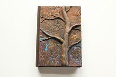 """""""Winter Spirit"""" Polymer clay journal by Mandarin Duck.  www.mandarin-duck.com"""