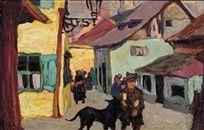 Strassenszene (Murnau) by Gabriele Münter on artnet