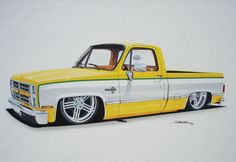 drawing i have been workin on past few days - Page 2 - Chevrolet Colorado & GMC Canyon Forum Informations About drawing i have been workin on past few days - Page 2 - Chevrolet Colorado & GMC . Custom Pickup Trucks, Chevy Pickup Trucks, Classic Chevy Trucks, 72 Chevy Truck, Old Ford Trucks, Cool Car Drawings, Pencil Drawings, Art Drawings, Lowrider Trucks