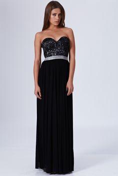Rare london bustier maxi dress