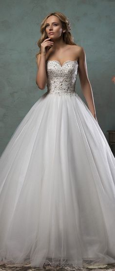 amelia sposa ball gown wedding dresses with touch of sparkle giselle #WeddingDressesBallGown