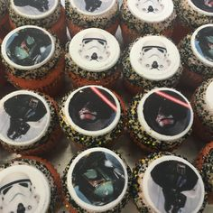 Custom Cupcakes, Minis, Cheesecake, Star Wars, Desserts, Image, Food, Design, Personalised Cupcakes