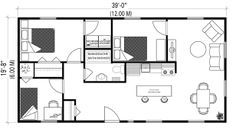 26 x 40 cape house plans second units rental guest for 20x40 house layout